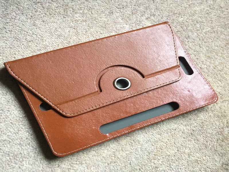 New tablet leather back case